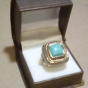 Jewelry - Turquoise Nugget Sterling Band Ring
